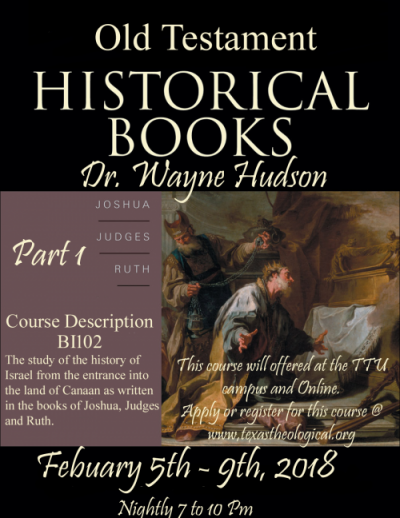 New Live Streaming Course: Historical Books 1