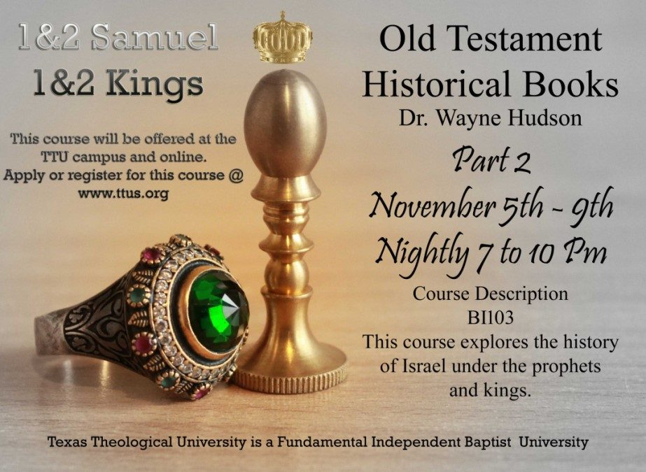 New Live Streaming Course: Historical Books 2